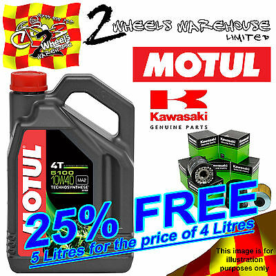5L Motul 5100 10W40 Oil And 160970008 Filter Change Kawasaki Vn2000 Vulcan 2008