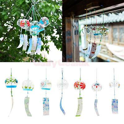 Japanese Style Glass Furin Wind Chimes Mobile Windchime Hanging Ornament Decor