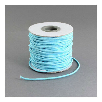 1 x Pale Blue Elastic 10m x 1mm Thong Cord Continuous Length Y04985