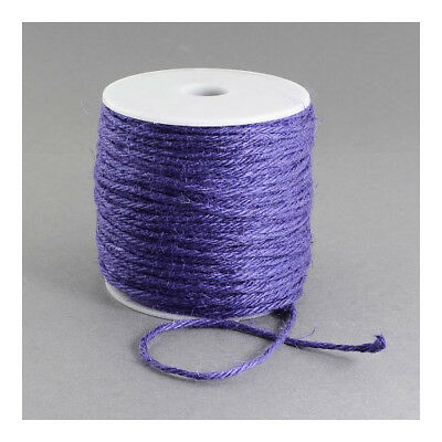 1 x Lilac Hemp 10m x 2mm Twine Cord Continuous Length Y05575