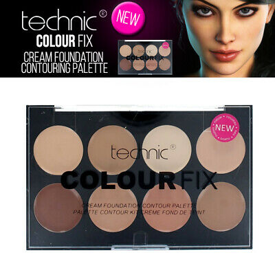 Technic Colore Fix Cream Foundation 8 Shade Makeup Contour Palette - Concealer