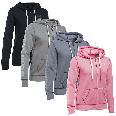 Under Armour Womens Favourite Full Zip Hoodie - New Ua Ladies Fleece Top 2017