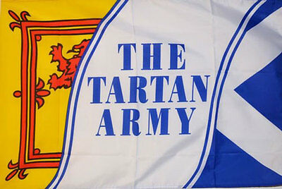 3' x 2' THE TARTAN ARMY FLAG Scottish St Andrews Lion Rampant Scotland Football