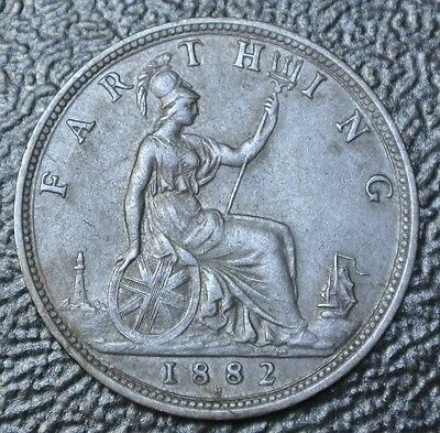 1882 H GREAT BRITAIN - FARTHING - Victoria - Nice HIGH GRADE