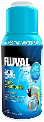 Fluval Aquaplus 120ml Water Conditioner For Aquariums