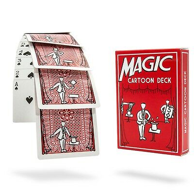 MAGIC CARTOON DECK Animated Trick Prediction Magician Pick A Playing Card Funny