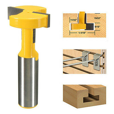 """1/2"""" Shank T-Slot & T-Track Slotting Router Bit Fr Woodworking Chisel Cutter New"""