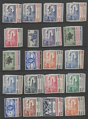 1949 UPU complete Omnibus Issue superb lightly mounted mint MLH 310 stamps
