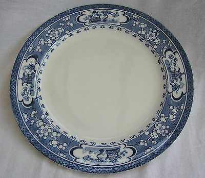 An Original Vintage Blue & White  Maling Newcastle Oriental Large Dinner Plate