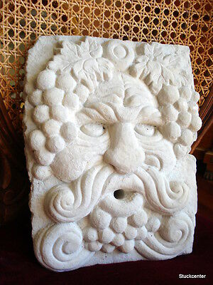 Stucco - Gargoyle, God of wine for Fountain, made of concrete for garden