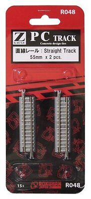 Z Scale R048 PCTrackStraight Track 55mm x2 by rokuhan