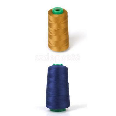 2 Spools THICK Polyester THREAD For Jeans Demin Shoes Bag Hard Craft 3000 YDS