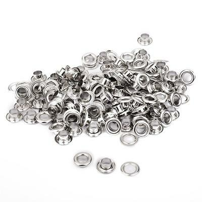 400 SETS 5mm Silver Copper Eyelets w/ Washers Leather Craft Repair Grommet