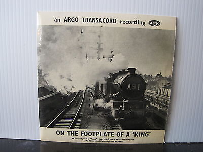 """ARGO EAF 75 Transacord ON THE FOOTPLATE OF A KING 7"""" EP RECORD Free UK Post"""