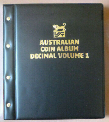 VST AUSTRALIAN DECIMAL COIN ALBUM 1966 to 2015 BLACK COLOUR Binder with MINTAGES