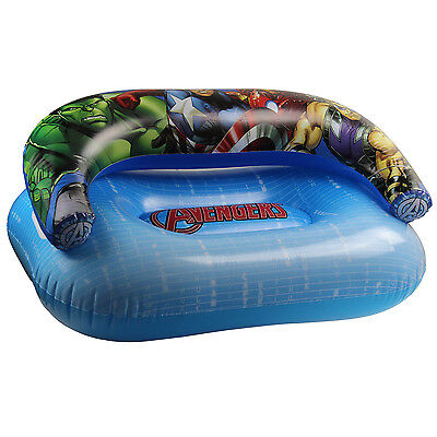 Marvel Avengers Kids Inflatable Couch Childrens PVC Air Sofa Comic Lounger Seat