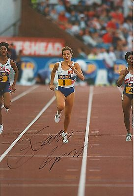 Sally Gunnell Hand Signed 12x8 Photo Olympics.