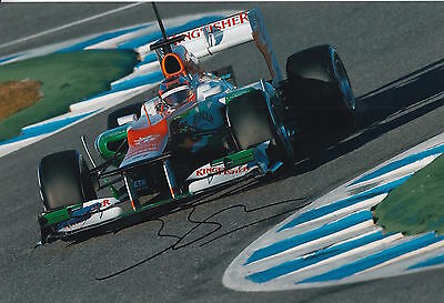 Jules Bianchi Hand Signed 12x8 Photo Sahara Force F1.