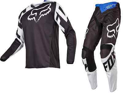 17253 17254 001 Fox 180 Adult Race Pant Jersey Combo Black And White
