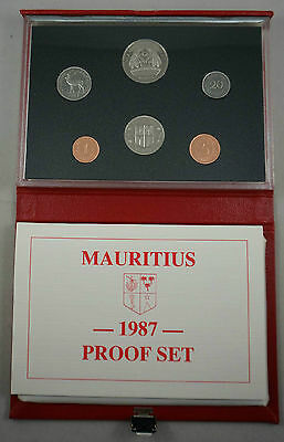 MAURITIUS 6 Coins 1987 Proof Set KM PS6