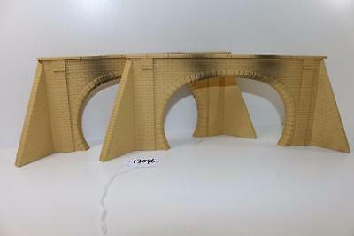 2 x Hornby Dublo OO 1:76 Plastic double track Tunnel Mouths Portals 13096