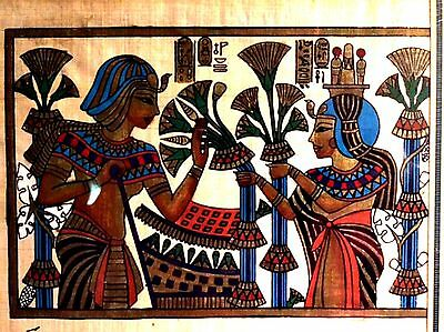 Pharonic Egyptian Art on Papyrus Paper Royal Tombs & Temples Made in Egypt EA11