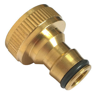 """1Pc 3/4"""" Threaded Brass Tap Adaptor Garden Water Hose Pipe Connector Fitting"""
