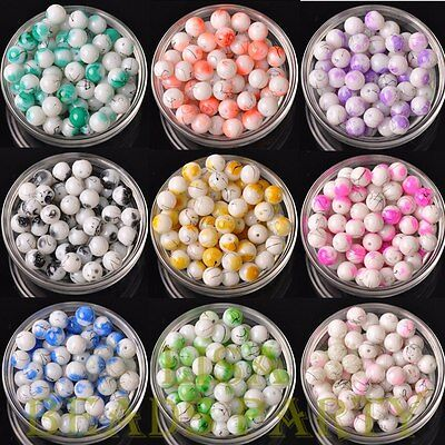 Wholesale 10mm 12mm Round Ball Jewelry Making Loose Spacer Glass Beads Bulk