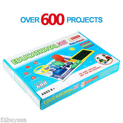 Kids Snap Circuits Science Electronics Discovery Kit Educational Toy Xmas Gift
