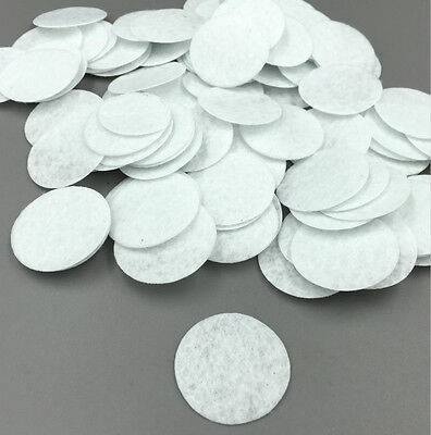 200 Pcs White Felt Circles 3Cm Round Felt Patches For Hair Accessory Making