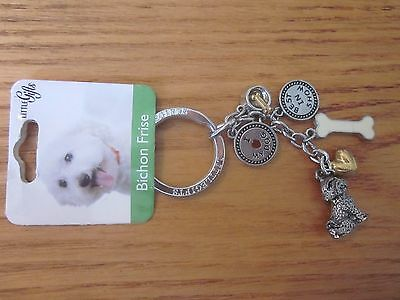 Bichon Frise Dog Little Gifts Key Chain Ring With Charms