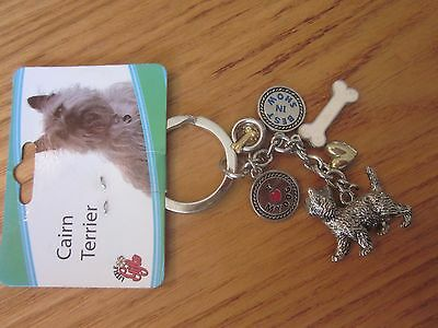 Cairn Terrier Dog Little Gifts Key Chain Ring With Charms