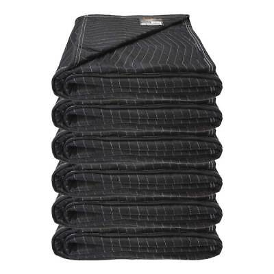 """Moving Blanket (6-pack) 72"""" x 80"""" - Econo Mover (27 lbs/6 blankets, Black/Black)"""