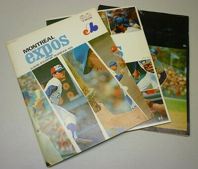 1970 Lot of 3 Montreal Expos Official Baseball Yearbooks Vol. 2 #1 #2 #3