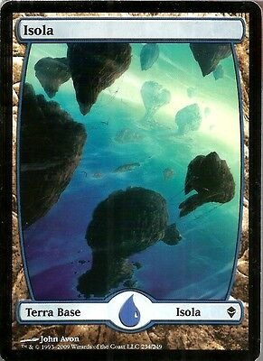 MTG - Isola 234 - Island 234 - Zendikar Textless Full Art