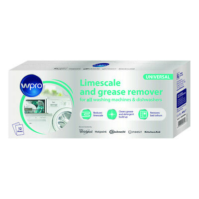 WPRO C00424828 Limescale & Detergent Remover Pack of 12