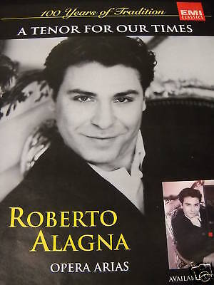 ROBERTO ALAGNA 100 Years Tradition 1995 PROMO POSTER AD