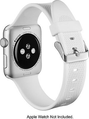 Insignia Silicone Band For Apple Watch 38mm NS-AWB38WHT White