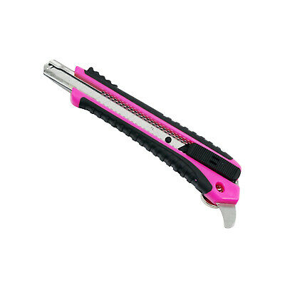 Mini Pink Handy Utility Sharp Box Cutter Knife / Retractable Blade W/ Magnet