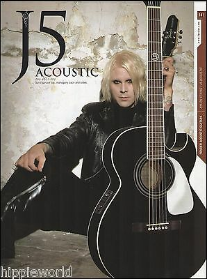John 5 Lowery (Rob Zombie) Signature Fender J5 acoustic guitar 8 x 11 ad print