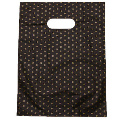 100pcs Wholesale Star Patterns Plastic Gift Carrier Bag Black Background Pouch J