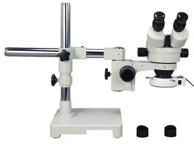 OMAX Boom Stand 7X-45X Stereo Zoom Microscope with 54 LED Light
