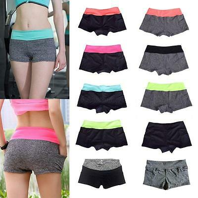 Summer Casual Pants Women Sports Shorts Gym Workout Waistband Skinny Yoga Shorts