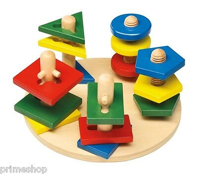 MOTOR SKILLS-TOWERS GREAT TOY of wood approx. 22 x 22 x 12 cm new