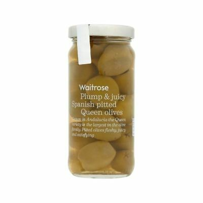 Pitted Queen Olives Waitrose 225g