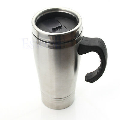 Portable Stainless Steel Double Wall Travel Tea Tumbler Thermos Coffee Cup 16oz