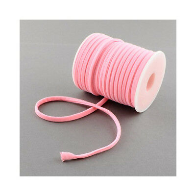1 x Pink Habotai Stretchy Spandex 2m x 5mm Thong Cord Continuous Length Y04920