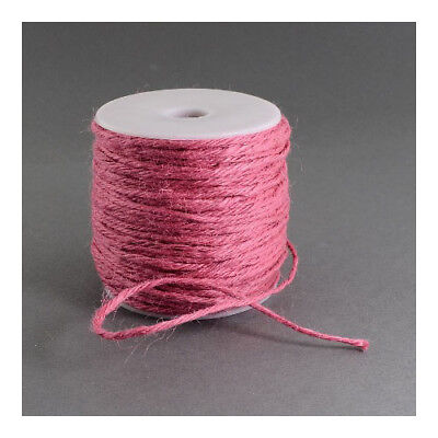 1 x Pink Hemp 10m x 2mm Twine Cord Continuous Length Y05030