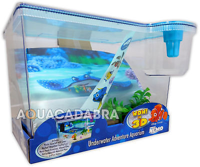 Finding Nemo 3D Aquarium 15L First Fish Tank Dory Disney With Background Lid