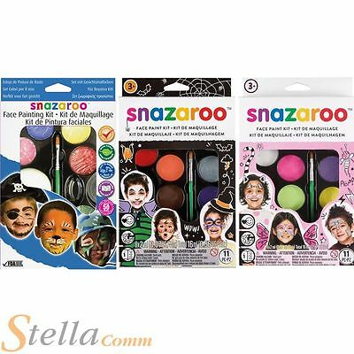 Snazaroo Childrens Face Paint Make Up Kits With Guide Boys Girls Halloween